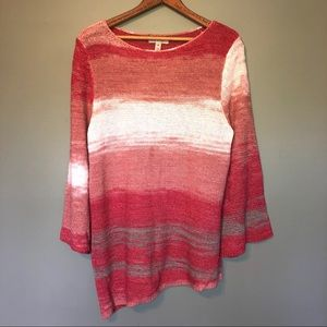 Dana Buchanan Orange Peach Asymmetrical Sweater